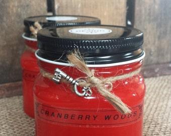 Cranberry Woods Mason Jar Candles