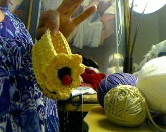Crochet Sunflower baby tong sandals