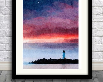 Cape Cod MA,Art Print,Painting,Watercolor,Illustration,Home Decor,Pic no 71