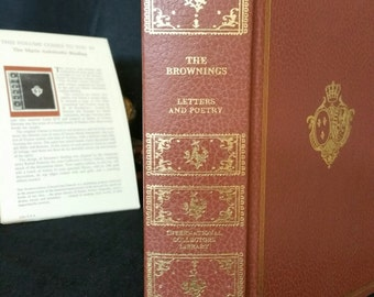 The Brownings Letters and Poetry - International Collectors Library - The Marie Antoinette Binding 1970