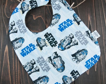 Droid Baby Bib -Sci-Fi Baby Bib - Gender Neutral Bib