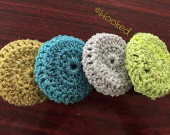 Mesh dish scrubbies