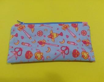 Sailor Moon Weapons Zipper Pouch/Pencil Case