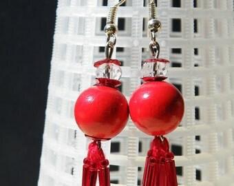 Red-Red earrings earring