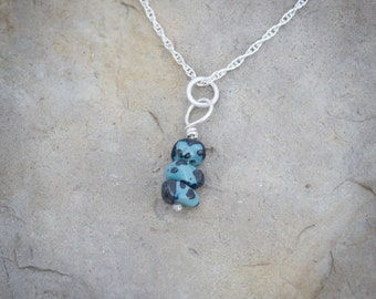 Leland Blue beaded charm for necklaces or bracelets