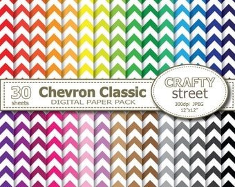 Chevron digital paper, Chevron, Chevron digital, Chevron paper, INSTANT DOWNLOAD, Digital paper pack, Chevron background, Scrapbook paper