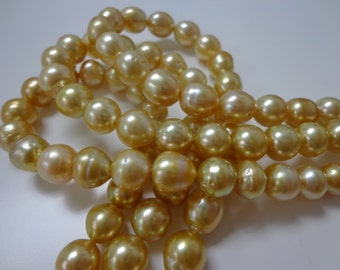 7-10mm Dark Golden South Sea Pearl Necklace