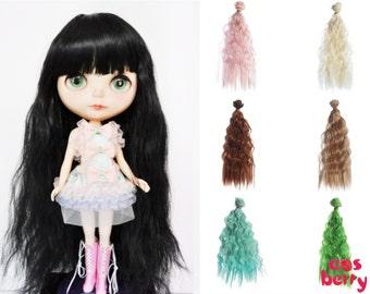 Cosberry - Custom Doll wig Pullip wig Blythe wig American girl doll wig Black wig fibre 9-10 inch 11-12inch 25cm 28cm Ready to ship