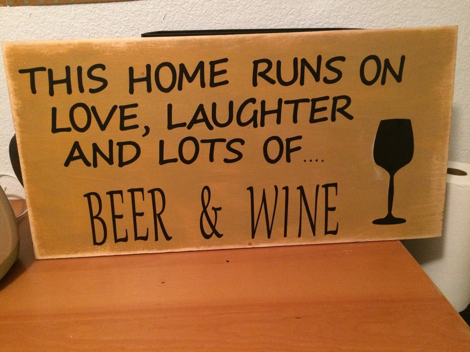 Beer And Wine Wood Sign Wall Decor Kitchen Home By