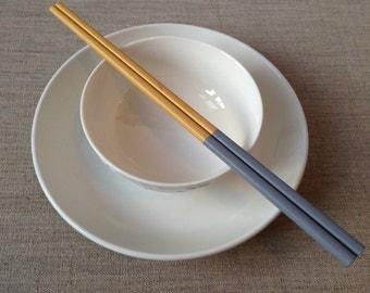 Grey Handpainted Bamboo Chopsticks