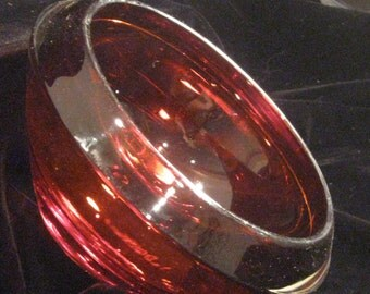Heavy Ruby Red Console Bowl