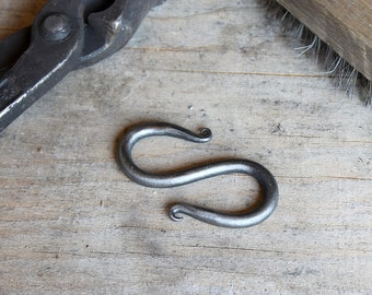 Hand Forged Steel  'S' Hook, Small, Hand Made in Maine