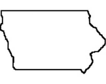 State of Iowa Applique 5x7 PES ONLY