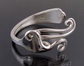 Vintage Silver Plated Fork Bangle Bracelet  Handmade