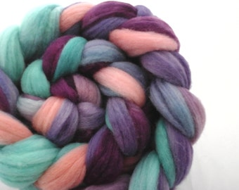 Hand dyed Cormo roving(combed top) for spinning or felting- 4oz.