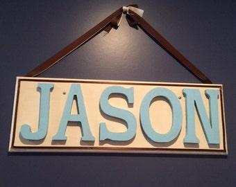 Childs hanging name plaque