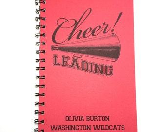 Cheerleader Notebook, Cheerleading Notebook, Cheers, Notebook, Cheer, gift, Journal, Best Friend Gift, Notebook, gift, Diary, Cheerleader