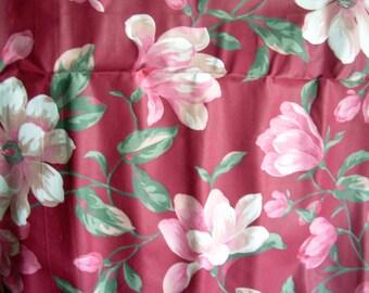 Vintage Burgundy Floral Fabric
