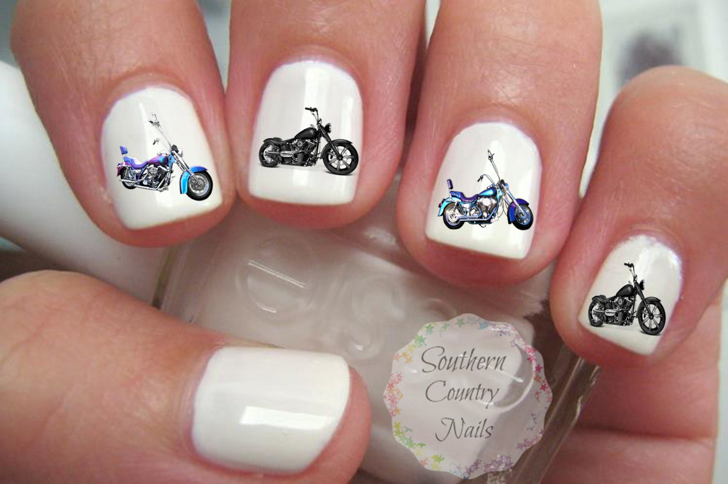 Motorcycle Nail Art Decals