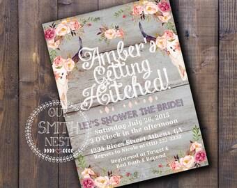Rustic Charm Bridal Shower Invitation DIY PRINTABLE Customizable Digital Print
