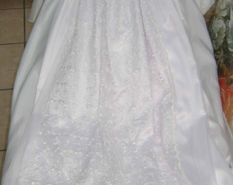 "A Pretty White Christening Gown - ""Janelle"""