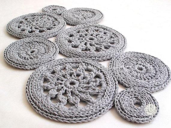 Crochet rug, crochet carpet, round rug, knitted carpet, knitted rug ...