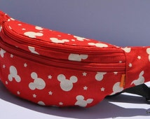 Disney Mickey Mouse Bum Bag Hip Waist Belt Bags Black Fanny Pack Travel Holiday
