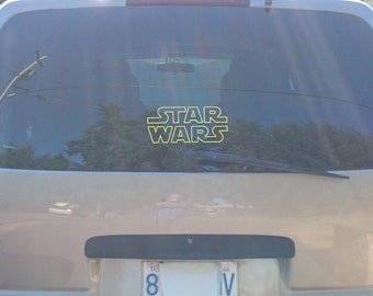 STAR WARS decal. Great on your car or van, laptop, iPad, Android tablet, Galaxy Tablet