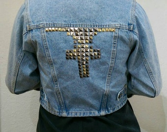 Studded 80s Denim Jacket