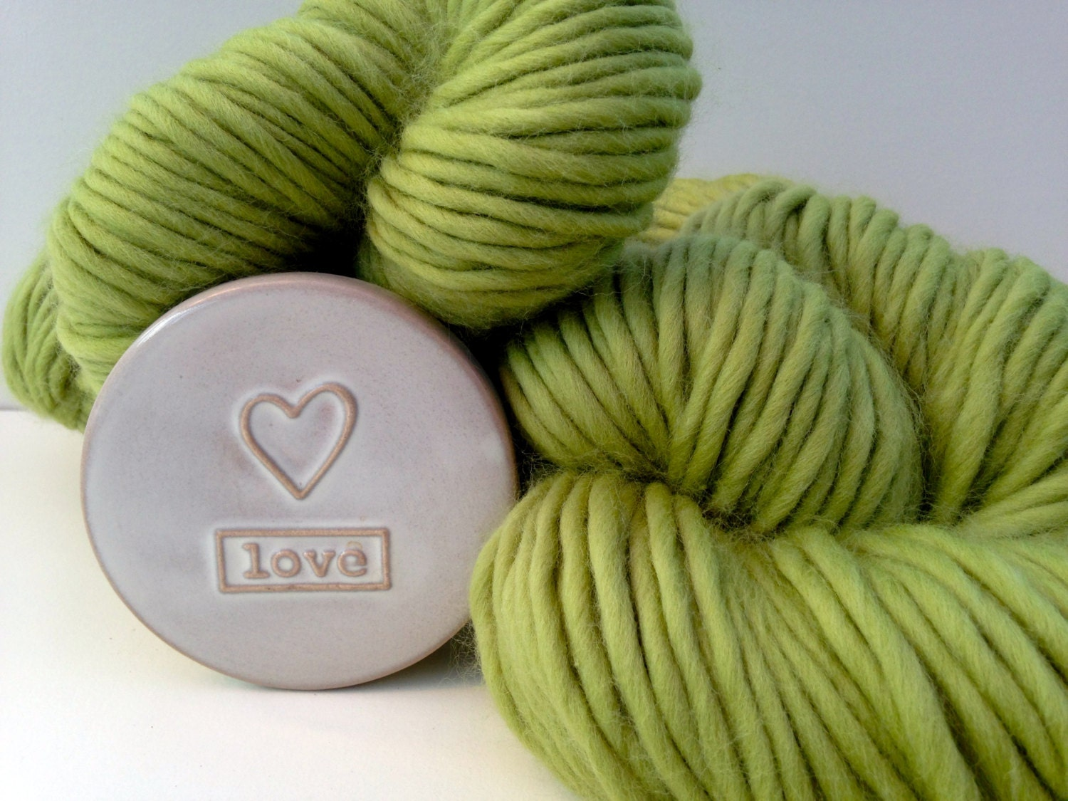 Super Bulky Yarn : Super Chunky yarn. Sage Green Super bulky by WoolCoutureCompany