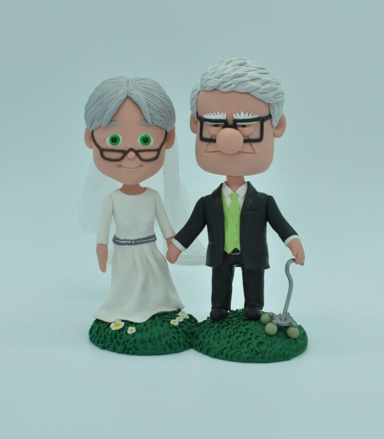 Wedding Cake Toppers Cartoon: Cute cartoon bride and groom wedding ...