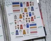 An Adventure in Time and Space Stickers! Perfect for Planners and Calendars