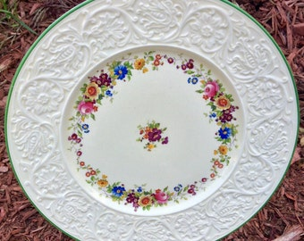 This Is Art: Gorgeous Coalport Floral 11 Inch Dinner Plate