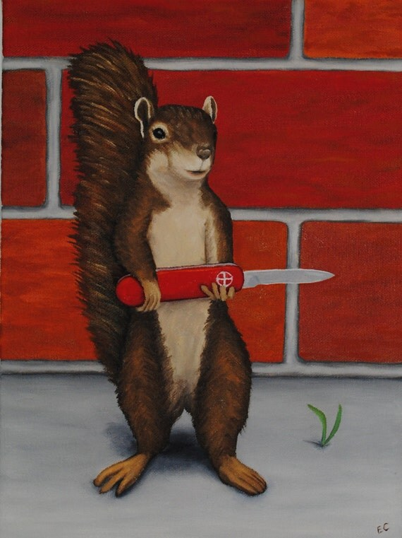 Squirrel with a Pocket Knife