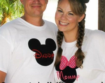 Mommy Minnie Mouse / Daddy Mickey Mouse Shirt / Disney Trip Shirt / Birthday