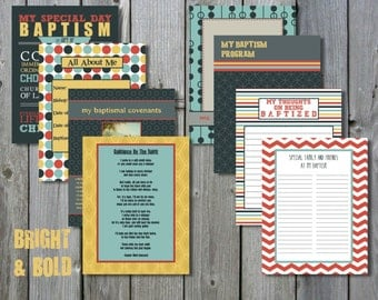 Bright & Bold LDS Baptism Printable Memory Book - Instant Download