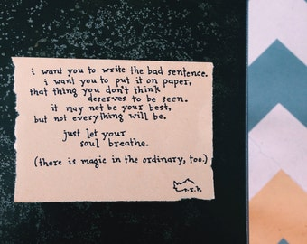 Poem: Write // NOTESONTHEWAY