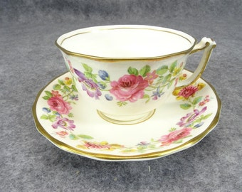 "Old Royal Bone China ""Swansea"" Pattern Teacup and Saucer"