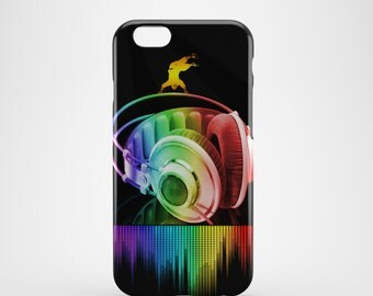Headphones Music Art Phone case,  iPhone X Case, iPhone 8 case,  iPhone 6s,  iPhone 7 Plus, IPhone SE, Galaxy S8 case, Phone cover, SS108a