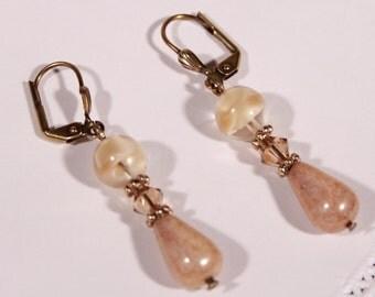 Desert Sand Drop Earrings