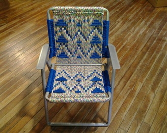 Child's macrame lawn chair.
