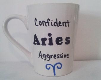Aries Coffee Mug - Zodiac Mug - Horoscope Mug - Aries - Zodiac - Horoscope - Aries items