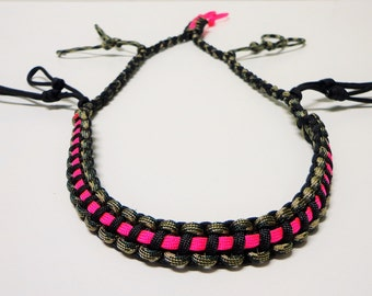 Paracord Duck/Goose Call Lanyard Camo Black and Pink