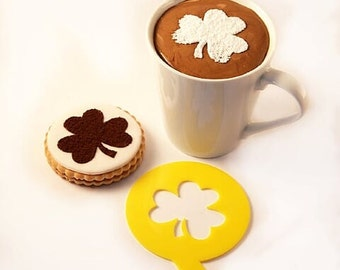 Coffee Stencil, Cookie Stencil, Custom Stencil, Clover