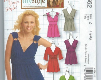"""McCall's M5662 """"Make it Your Style!""""  Top,Tunic and Dress"""