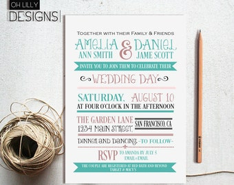 Wedding Invitation Modern, Wedding Invitation, Wedding Invitation Printable, Minimalist Wedding Invitation, Digital File