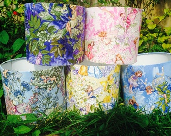 Flower Fairies handmade lampshades in various colourways, any size!