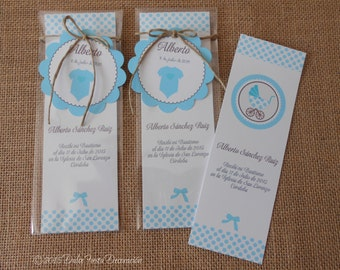 12 bookmarks reminders for baptism, Baby Shower...