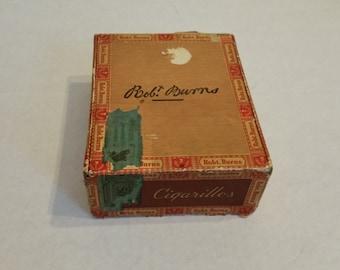 Vintage Robt. Burnes Cigar Box by General Cigar Co. Inc.