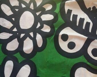 "Marimekko fabric  made in Finland 60s . 55 cm x 90 cm  22"" x 36""."